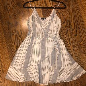 ⚡️FLASH SALE Express Blue Striped Tank Wrap Dress
